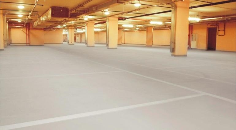 Промышленный бетонный пол с упрочнением